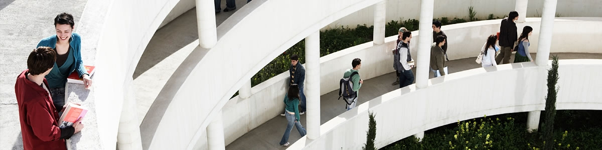 Higher education interior of university